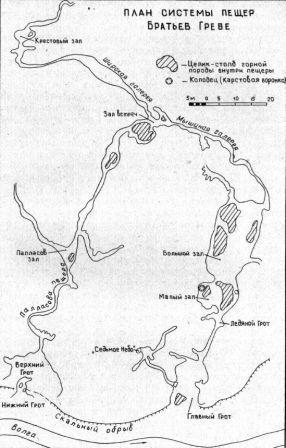 Карта пещеры братьев Греве